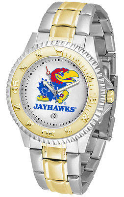 Kansas Jayhawks Competitor Two Tone Stainless Steel Men's Watch