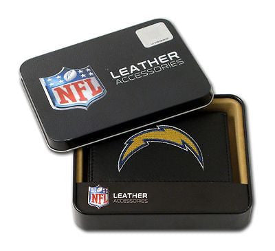 Los Angeles Chargers Leather Men's Tri Fold Wallet