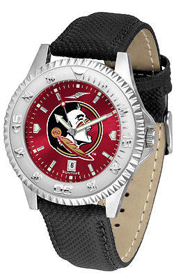Florida State Seminoles Men's Competitor AnoChrome Leather Band Watch