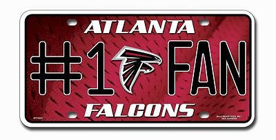 Atlanta Falcons Metal Car Tag