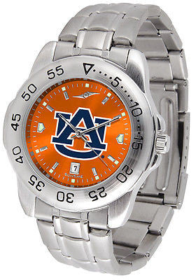 Auburn Tigers Men's Stainless Steel Sports AnoChrome Watch