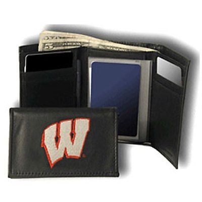 Wisconsin Badgers Men's Tri Fold Wallet