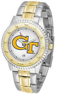Georgia Tech Competitor Two Tone Stainless Steel Men's Watch