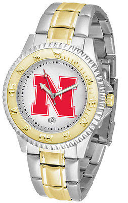 Nebraska Huskers Competitor Two Tone Stainless Steel Men's Watch