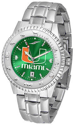 Miami Hurricanes Men's Competitor Stainless Steel AnoChrome Watch