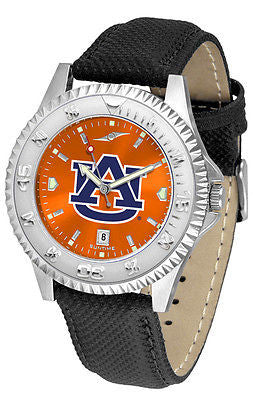Auburn Tigers Men's Competitor AnoChrome Leather Band Watch