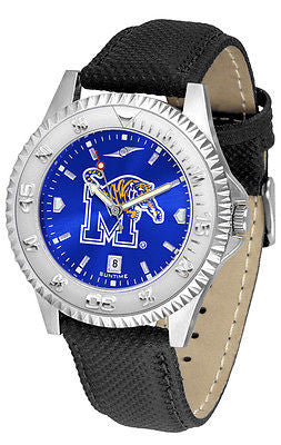 Memphis Tigers Men's Competitor AnoChrome Leather Band Watch