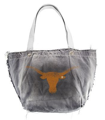 Texas Longhorns Light Gray Distressed Vintage Tote