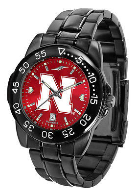 Nebraska Huskers Men's Fantom Sport AnoChrome Watch