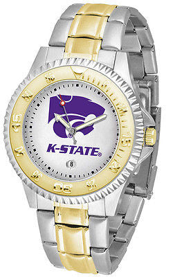 Kansas State Competitor Two Tone Stainless Steel Men's Watch