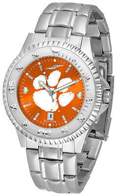 Clemson Tigers Men's Competitor Stainless Steel AnoChrome Watch