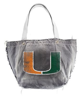 Miami Hurricanes Hand Distressed Vintage Tote