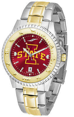 Iowa State Cyclones Men's Competitor Stainless Steel AnoChrome Two Tone Watch