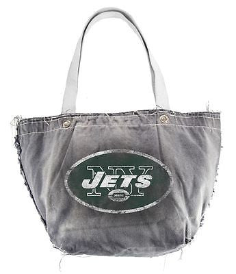 New York Jets Light Gray Distressed Vintage Tote