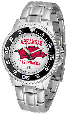 Arkansas Razorbacks Men's Competitor Stainless AnoChrome with Color Bezel Watch