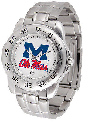 Mississippi Ole Miss Rebels Men's Sports Stainless Steel Watch