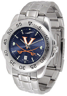 Virginia Cavaliers Men's Stainless Steel Sports AnoChrome Watch