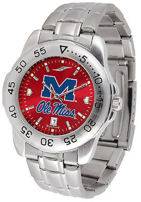 Mississippi Ole Miss Rebels Men's Stainless Steel Sports AnoChrome Watch