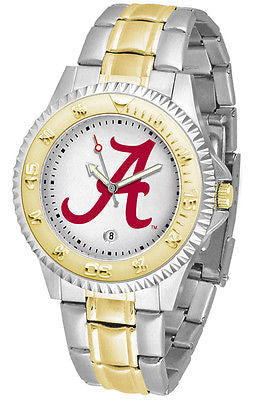Alabama Crimson Tide Competitor Two Tone Stainless Steel Men's Watch