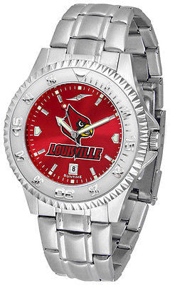 Louisville Cardinals Men's Competitor Stainless Steel AnoChrome Watch