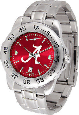Alabama Men's Stainless Steel Sports AnoChrome Watch