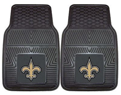New Orleans Saints Vinyl Auto Front Floor Mats Set of 2