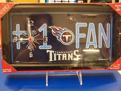 Tennessee Titans Fan Tag Clock