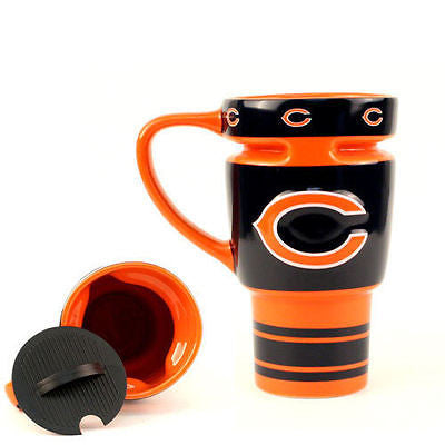 Chicago Bears Ceramic Travel Mug with Lid