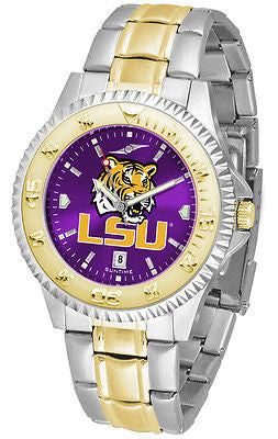 LSU Tigers Men's Competitor Stainless Steel AnoChrome Two Tone Watch