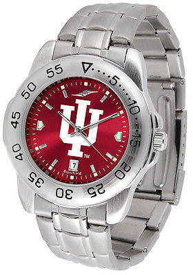 Indiana Hooisers Men's Stainless Steel Sports AnoChrome Watch