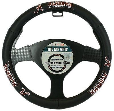 Alabama Crimson Tide Leather Steering Wheel Cover