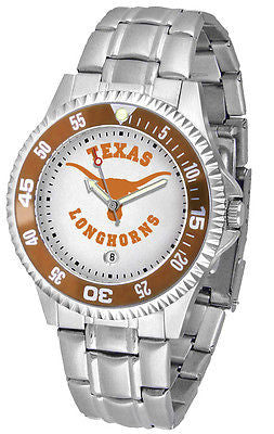 Texas Longhorns Men's Competitor Stainless Steel AnoChrome with Color Bezel