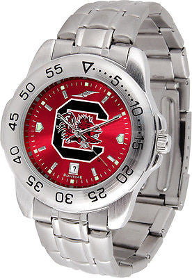 South Carolina Gamecocks Men's Stainless Steel Sports AnoChrome Watch