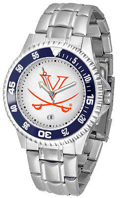 Virginia Cavaliers Men's Competitor Stainless Steel AnoChrome with Color Bezel