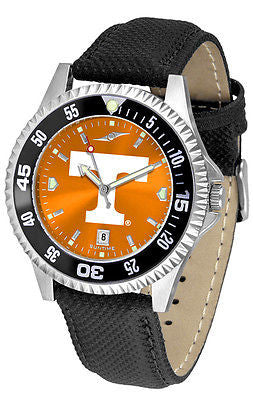 Tennessee Vols Men's Competitor AnoChrome Color Bezel Leather Band Watch