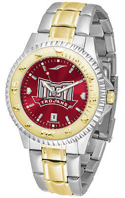 Troy University Men's Competitor Stainless Steel AnoChrome Two Tone Watch