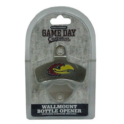 Kansas Jayhawks Wall Mount Bottle Opener