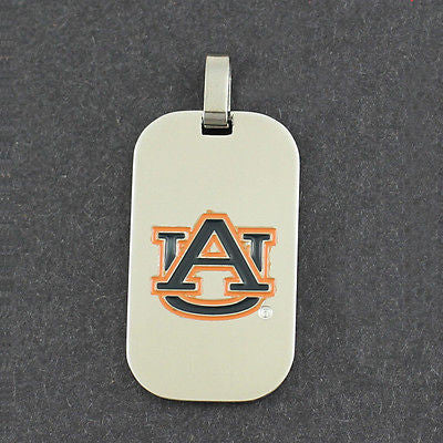Auburn Tiger Dog Tag Pendant Necklace