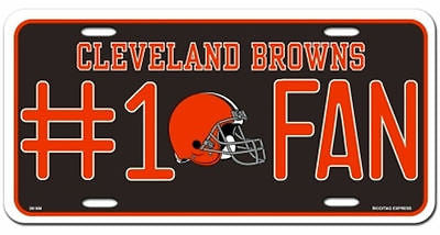 Cleveland Browns Metal Car Tag