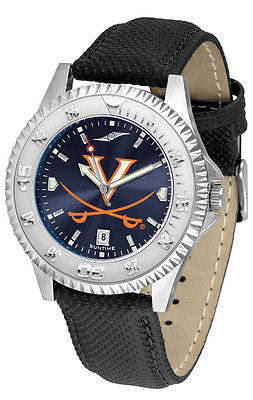Virginia Cavaliers Men's Competitor AnoChrome Leather Band Watch