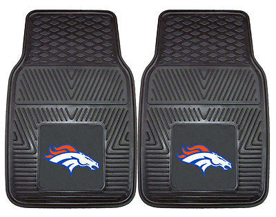 Denver Broncos Vinyl Auto Front Floor Mats Set of 2  OUT OF STOCK