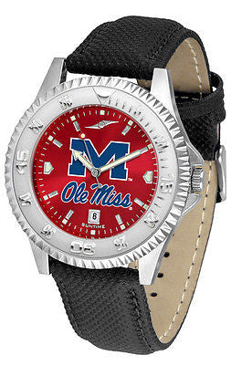 Mississippi Ole Miss Rebels Men's Competitor AnoChrome Leather Band Watch