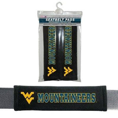 West Virginia Mountaineers Seat Belt Pads