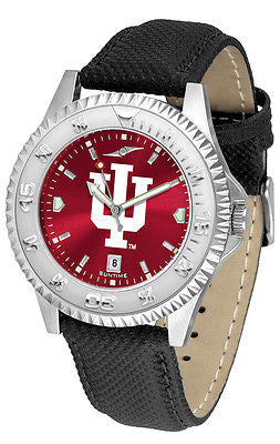 Indiana Hoosiers Men's Competitor AnoChrome Leather Band Watch
