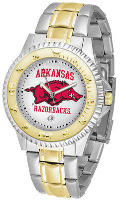 Arkansas Razorbacks Competitor Two Tone Stainless Steel Men's Watch