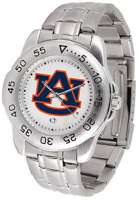 Auburn Tigers Men's Sports Stainless Steel Watch