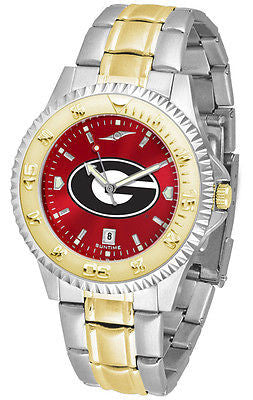 Georgia Bulldogs Men's Competitor Stainless Steel AnoChrome Two Tone Watch