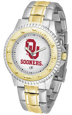 Oklahoma Sooners Competitor Two Tone Stainless Steel Men's Watch