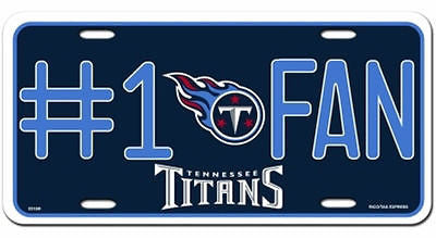 Tennessee Titans Metal Car Tag