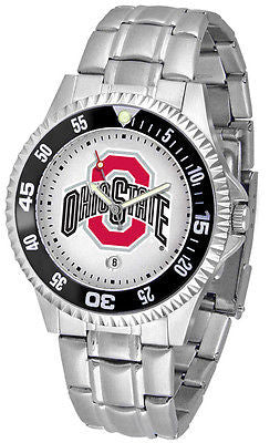 Ohio State Buckeyes Men's Competitor Stainless Steel AnoChrome with Color Bezel
